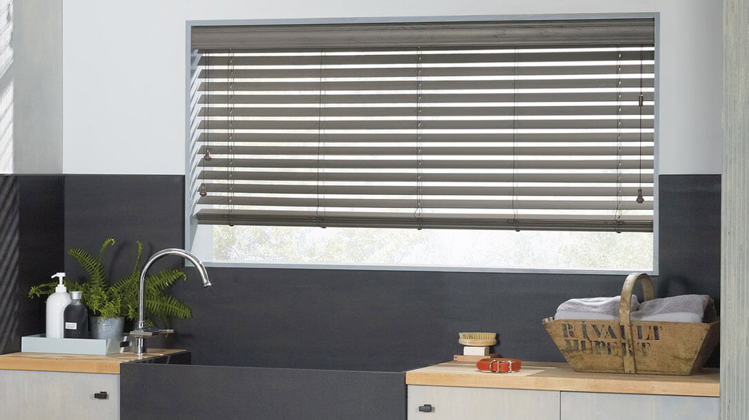 Everwood Blinds in a kitchen